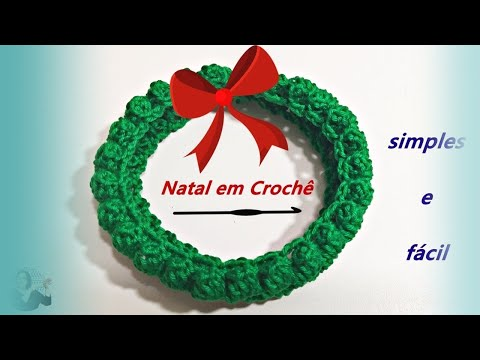 MINI-GUIRLANDA DE NATAL EM CROCHE - YouTube