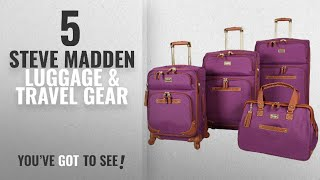 Top 10 Steve Madden Luggage & Travel Gear [2018]: Steve Madden 4 piece Luggage With Spinner Wheels