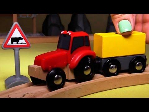 Развивающее видео про паровозики в городе Брио и часы на вокзальной станции