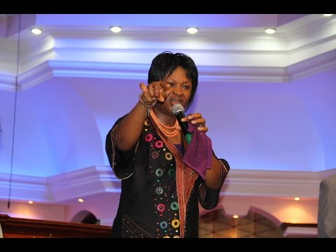 Pastor (Dr) Esther Obasi-ike preaching at  the Daughters of Zion (D.O.Z) meeting at J.C.C Parklands