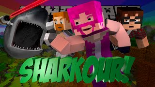 Minecraft SHARKOUR! Ft. MunchingBrotato, Lilshortysgs, and Dartron