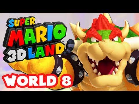 Super Mario 3D Land - World 8 (Ending) (Nintendo 3DS Gameplay Walkthrough)