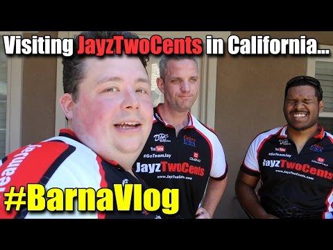 Visiting JayzTwoCents in Southern California - #BarnaVlog