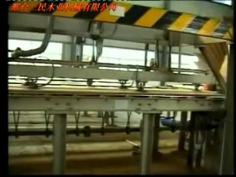 Wheat straw board production line with annual output 50000cubic meters.MP4