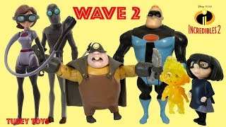 Incredibles 2 Movie Toys Huge Haul WAVE 2 Poseable Action Figures Full Set Jakks Pacific Tubey Toys