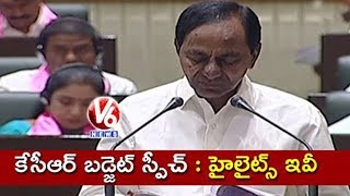 Telangana Budget 2019-20 Highlights | CM KCR Presents Budget In Assembly