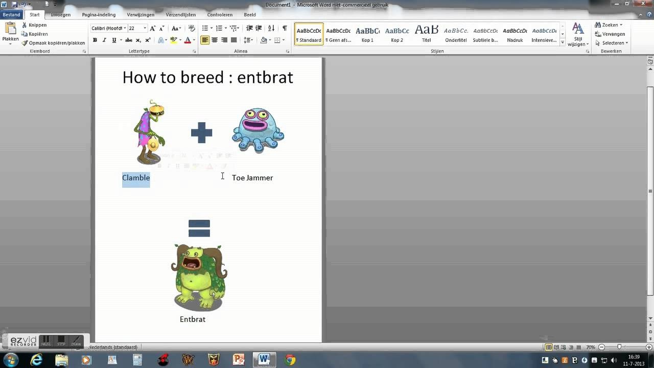 How to breed entbrat my singing monsters - YouTube