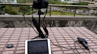 Canon 500d (kiss x3) hdmi output live dispaly on iPad by FEBON220 Plus  HDMI wireless station