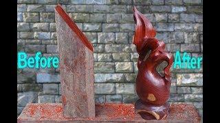 Amazing Techniques Wood Carving Woodturing Vase, Turning a Vase  (Japanese Joinery)