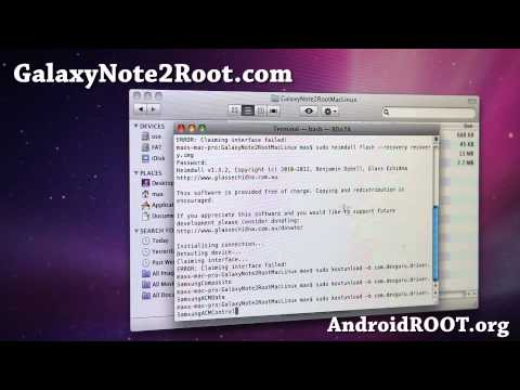 How to Root Galaxy Note 2 on Mac OSX!