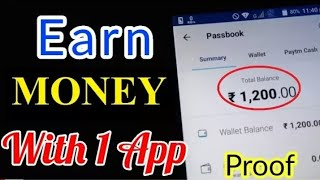 EARN money WITH PROOF FROM ONE APP | LATEST TRICKS || HIGH TECH