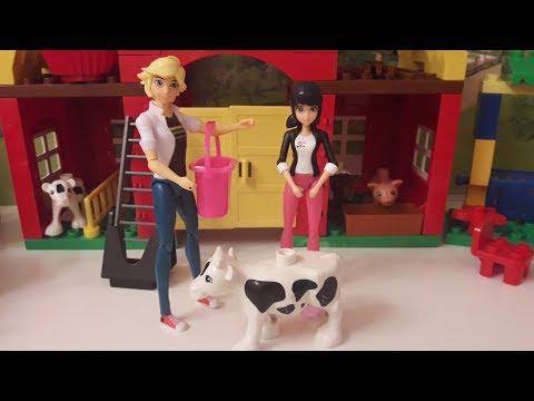 Леди Баг и Супер-Кот Видео из игрушек Маринетт и Адриан на каникулах в деревне