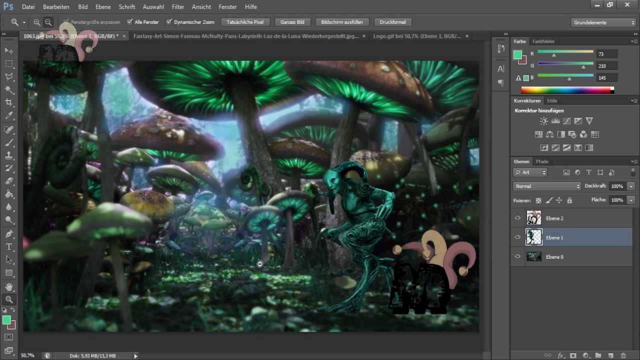 Painting Forest Photoshop Mushroom Forest Photoshop