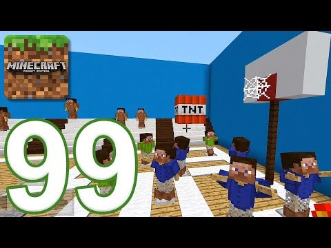 Minecraft: PE - Gameplay Walkthrough Part 99 - Find The Button: Sports Edition (iOS, Android)