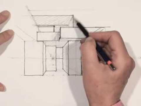 Dessiner en perspective un espace int rieur youtube - Comment dessiner un meuble en perspective ...