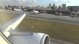 [ HD ] ABORDO - Tam A320 Sharklets take off Sao Paulo