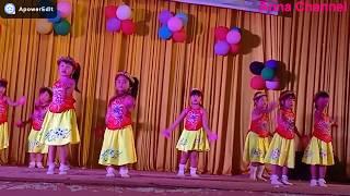 Múa hát bài Đi cấy cuộc thi bé thông minh vui khỏe cấp huyện do trường MG TT Hoa Lan