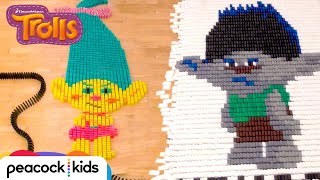 Trolls in 25,000 Dominoes! | TROLLS