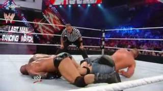 JOHN CENA VS. BATISTA 2010 EXTEME RULES [LAST MAN STANDING] WWE CHAMPION SHIP 2/3