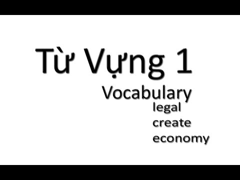 Tu Vung 1 / Vocabulary: Legal, create, economy...