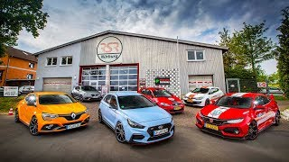 i30N vs Type-R vs Megane RS vs Cupra R - Ultimate Nurburgring Hot Hatch Test