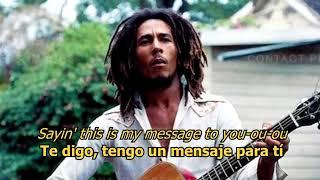 Three Little Birds Bob Marley Letra Original W Earphones