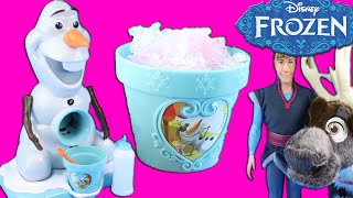 Disney Frozen Olaf Snow Cone Maker Toy Review with Kristoff and Sven