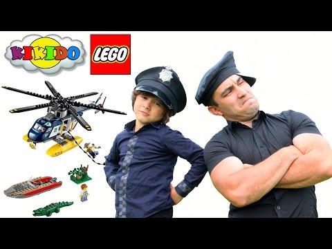 Лего Сити Погоня на Полицейском Вертолете 60067.Обзор и сборка Лего конструктора.Кикидо