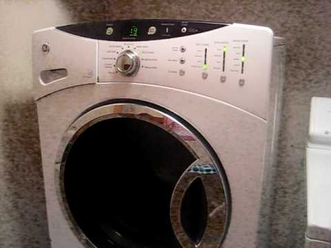 Ge Frontload Washer Washer On Pedestel 001 Avi Youtube