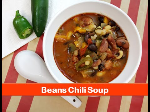 Beans/bean chili soup recipe/chili beans soup recipe/ healthy and easy soup - by let's be foodie
