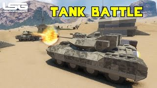 Space Engineers -  Desert Tank Battle 1vs1