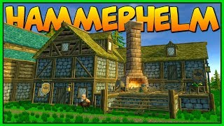 RECRUITING THE ARMORSMITH - Town Decorations - Let's Play HammerHelm Gameplay