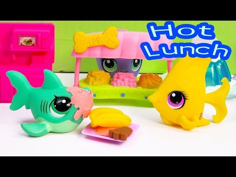 LPS Hot Lunch School Of Sharks Series Video Littlest Pet Shop Part 10 Cookieswirlc Toy Playing