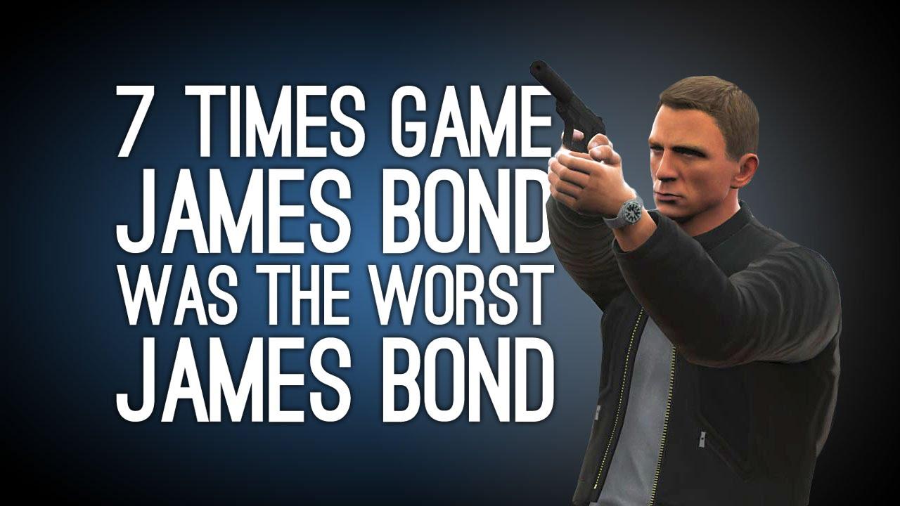 007 Times Videogame James Bond Was The Worst James Bond
