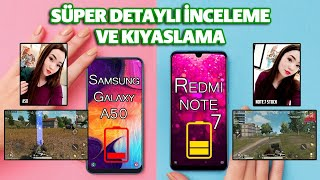 Samsung Galaxy a50 vs Redmi Note 7 KRAL TAHTINDAN İNDİRİLDİ!!!