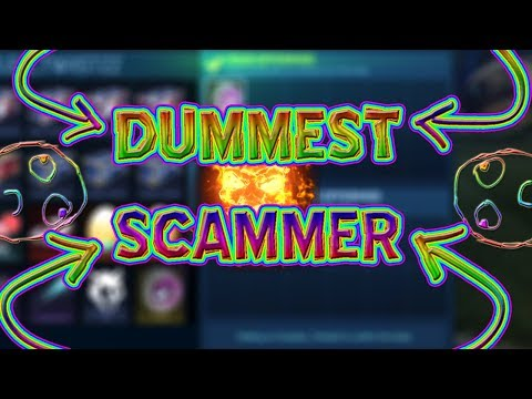 DUMBEST SCAMMER ON ROCKET LEAGUE | ROCKET LEAGUE SCAMMER EXPOSED | SALTY SCAMMERS GETS TROLLED |