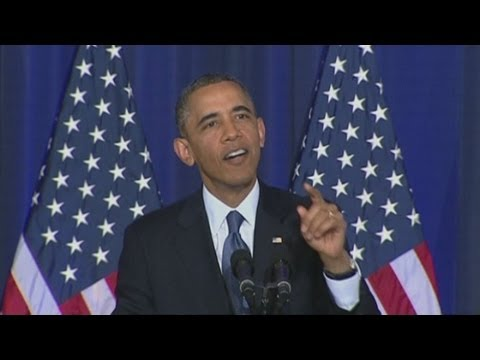 US President Barack Obama heckled by Guantanamo Bay protester