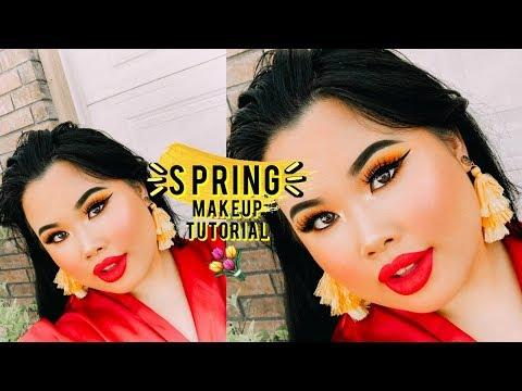 Foolproof Winged Eyeliner + Yellow Eyeshadow Makeup Tutorial