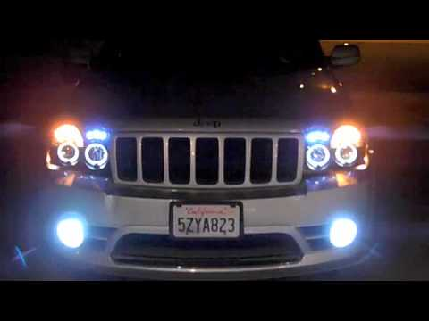 Jeep Srt8 Halo Projector Headlights W 6000k Hid S Youtube