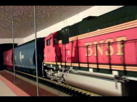 Indoor G-Scale Ceiling Train 1st Run.