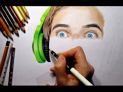 Speed Drawing: PewDiePie ► Felix Kjellberg YouTuber Fanart