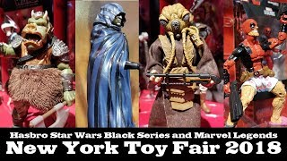 Robo Does Toy Fair: Marvel Legends and Star Wars Black Series Hasbro