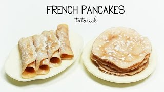 polymer clay French Pancakes / Crepes TUTORIAL | polymer clay food