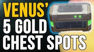 Destiny: All 5 Golden Chest Locations on Venus in the Ishtar Sink