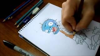 Dibujando Zombie / Plantas Vs Zombies