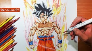 Drawing LIMIT BREAKER Goku! - New form? | Dragon ball Super!