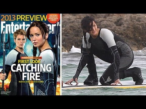 Jennifer Lawrence and Sam Claflin in Catching Fire  First Look at Steamy Scenes!