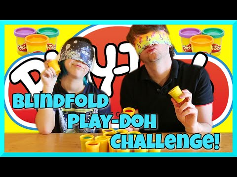 Blindfold Play Doh Challenge with Chad Alan - Funny Yo Face Attempt