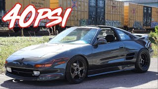 Rowdy K20 MR2 on 40PSI Encounters Supercar on the Highway!