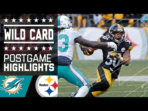 Dolphins Vs Steelers Nfl Wild Card Game Highlights